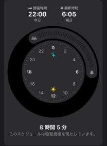 iPhone睡眠スケジュール
